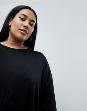 photo Oversized T-Shirt Dress by Missguided Plus, color Black - Image 3