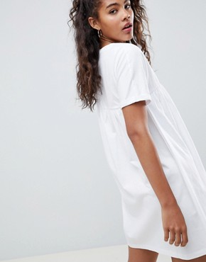 photo Ultimate Cotton Smock Dress by ASOS DESIGN Tall, color White - Image 2
