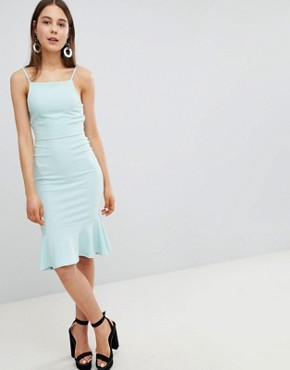 photo Peplum Strappy Midi Dress by New Look, color Mint Green - Image 1