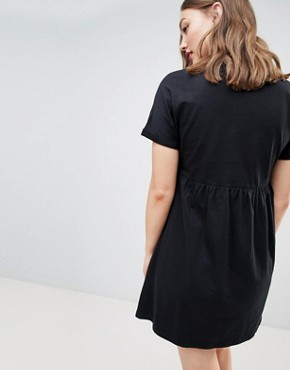 photo Maternity Ultimate Cotton Smock Dress by ASOS DESIGN, color Black - Image 2