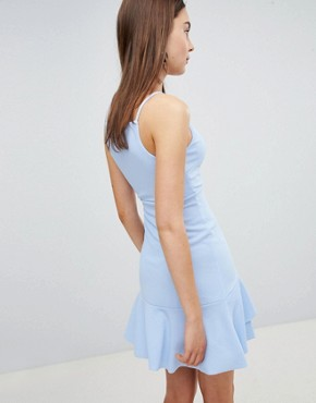 photo Asymetrical Hem Dress by New Look, color Light Blue - Image 2