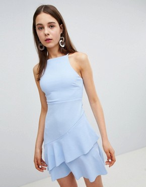 photo Asymetrical Hem Dress by New Look, color Light Blue - Image 1