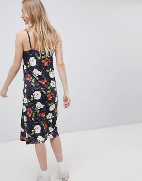 photo Button Front Midi Dress in Grungy Floral by ASOS DESIGN, color Floral Print - Image 2
