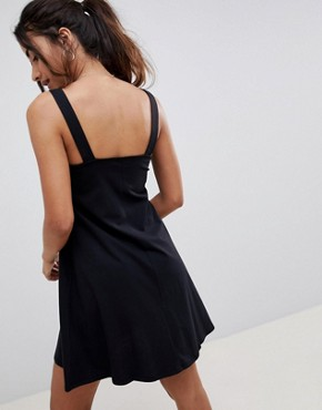 photo Buckle Strap Swing Sundress by ASOS DESIGN, color Black - Image 2