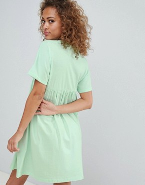 photo Cotton Smock Dress by ASOS DESIGN Ultimate, color Mint - Image 2