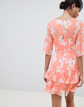 photo Floral Flippy Dress by French Connection, color Peach Blossom - Image 2