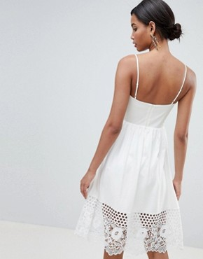 photo Lace Panel Jersey Dress by French Connection, color Summer White - Image 2