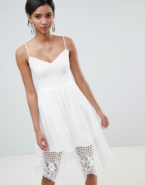 photo Lace Panel Jersey Dress by French Connection, color Summer White - Image 1