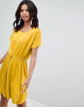 photo Jersey Tie Detail Dress by French Connection, color Yellow - Image 1