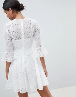 photo Broderie Mini Dress by French Connection, color Summer White - Image 2