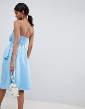 photo Origami Top Prom Dress by ASOS DESIGN, color Blue - Image 2