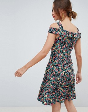 photo Floral Button Through Sundress in Multi by Mango, color Multi - Image 2
