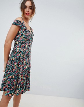 photo Floral Button Through Sundress in Multi by Mango, color Multi - Image 1