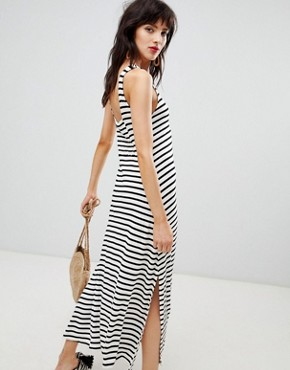 photo Stripe Jersey Maxi Dress in Multi by Mango, color Multi - Image 2