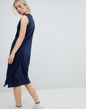 photo Tank Midi Dress by Tommy Hilfiger, color Black Iris - Image 2