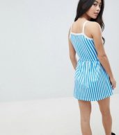photo Stripe Summer Dress by Missguided Petite, color Blue - Image 2