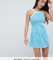 photo Stripe Summer Dress by Missguided Petite, color Blue - Image 1