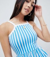 photo Stripe Summer Dress by Missguided Petite, color Blue - Image 3