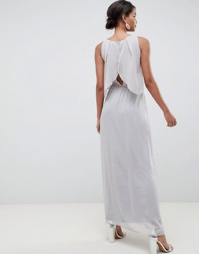 photo 2 in 1 Maxi Dress with Embellishment in Grey by Silver Bloom, color Grey - Image 2