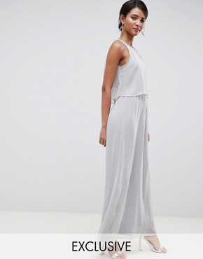 photo 2 in 1 Maxi Dress with Embellishment in Grey by Silver Bloom, color Grey - Image 1