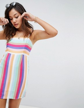 photo Cami Dress in Rainbow Print by Honey Punch, color Multi - Image 1