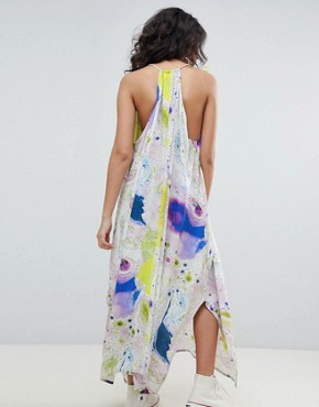 photo Drape Volume Dress in Marble Print in Print by Weekday, color Print - Image 2