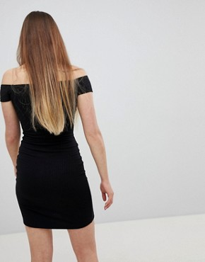 photo Popper Bardot Dress by New Look, color Black - Image 2