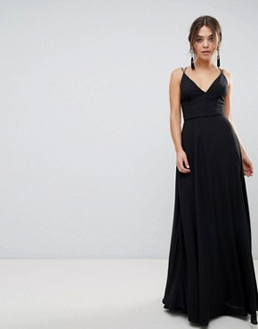 photo Strappy Back Maxi Dress by New Look, color Black - Image 1