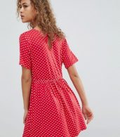 photo Smock Dress in Spot by Wednesday's Girl, color Red - Image 2