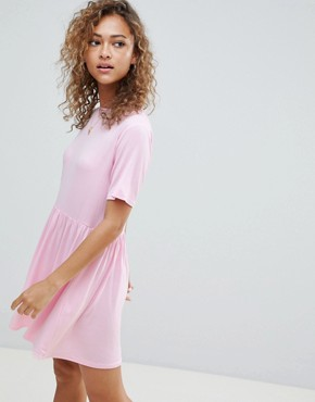 photo Smock Dress by Wednesday's Girl, color Light Pink - Image 1