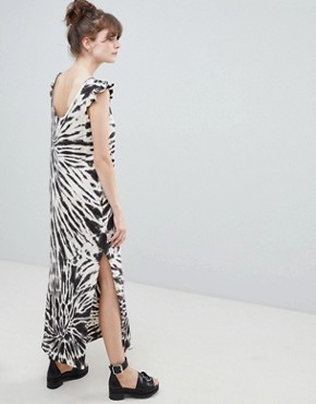 photo Tie Dye Maxi Dress by Leon and Harper, color Ecru - Image 2