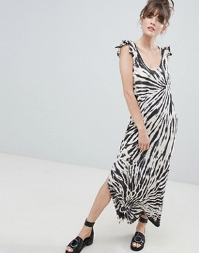 photo Tie Dye Maxi Dress by Leon and Harper, color Ecru - Image 1