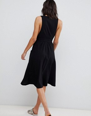 photo Diana Wrap Dress by Free People, color Black - Image 2