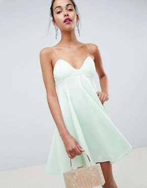 photo Cami Babydoll Swing Mini Dress by ASOS DESIGN, color Mint - Image 1