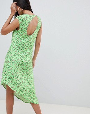 photo Ditsy Print Midi Dress with Button Detail by ASOS DESIGN, color Ditsy Print - Image 2