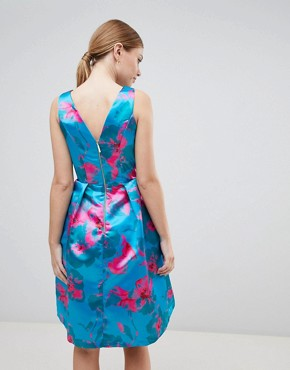 photo Floral Print Prom Dress by Closet London, color Multi - Image 2
