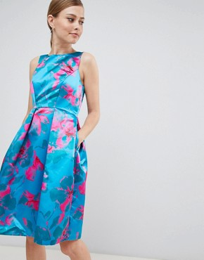 photo Floral Print Prom Dress by Closet London, color Multi - Image 1
