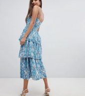 photo Layered Cami Dress by Closet London, color Blue - Image 2