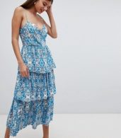 photo Layered Cami Dress by Closet London, color Blue - Image 1