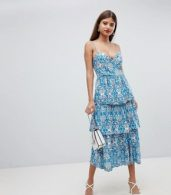 photo Layered Cami Dress by Closet London, color Blue - Image 4