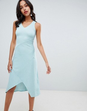 photo V-Neck Midi Dress by Closet London, color Green - Image 1