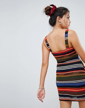 photo Bodycon Cami Dress in Stripe by Honey Punch, color Multi - Image 2