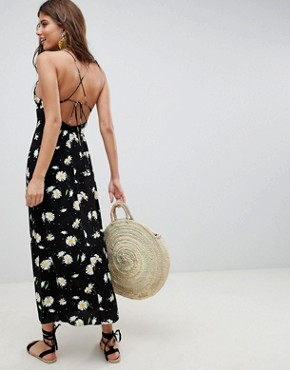 photo Cami Maxi Dress in Daisy Print by ASOS DESIGN, color Multi - Image 2