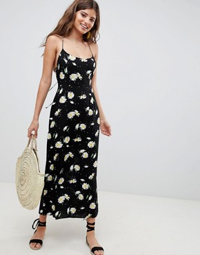 photo Cami Maxi Dress in Daisy Print by ASOS DESIGN, color Multi - Image 1