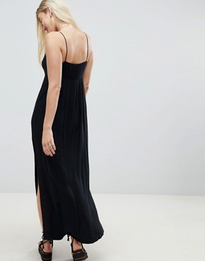 photo Smock Pleated Maxi Dress by ASOS DESIGN, color Black - Image 2