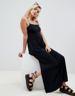 photo Smock Pleated Maxi Dress by ASOS DESIGN, color Black - Image 1