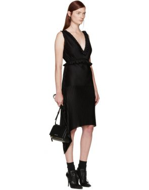 photo Black Pleated Dress by Givenchy - Image 4