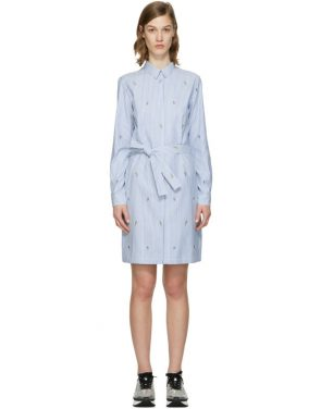 photo Blue Striped Cartoon Dress by Kenzo - Image 1