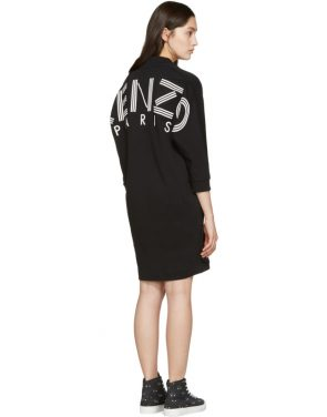 photo Black Logo Pullover Dress by Kenzo - Image 3
