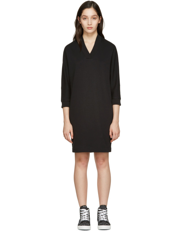 photo Black Logo Pullover Dress by Kenzo - Image 1